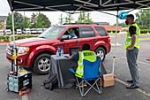 Drive-through job fair during Covid-19 outbreak