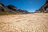 Cracked earth, Fish River Canyon, Namibia
