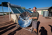 Solar cooker and solar panels