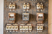 Old fuse boxes and electricity meters