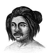 Native American man, 19th Century illustration