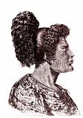 New Zealand man, 19th Century illustration