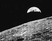 Earthrise from Lunar Orbiter 1, 1966