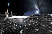 Lunokhod 1 on the Moon, illustration