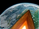 Earth's interior, illustration