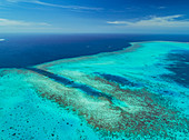 Aerial shot of Ulong Channel, Palau