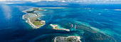 Aerial shot of the entrance to Kanton Atoll, Kiribati