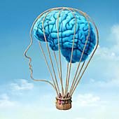 Brain power, conceptual illustration
