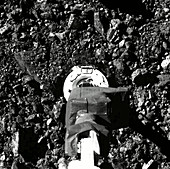 OSIRIS-REx collecting asteroid sample