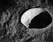 Schmidt lunar crater, Apollo 10 image