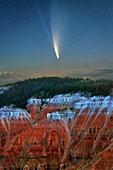 Comet Neowise over Cedar Breaks National Monument, Utah, USA