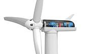 Wind turbine, illustration