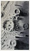Lunar landscape, 19th century illustration