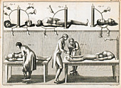 Galvani's corpse experiments, illustration