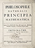 Title page of Isaac Newton's 'Principia'