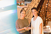 Portrait businesswomen with digital tablet