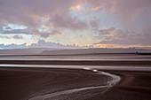 Tranquil sunset estuary view, Arnside Lancs, UK