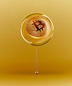 Golden Bitcoin bubble