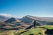 Female hiker, Isle of Skye, Scotland