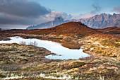 Scenic mountain view Bleik Andenes Vesteralen Norway