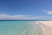 Sunny, tranquil, remote ocean beach, Maldives