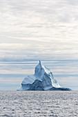 Majestic iceberg formation above Atlantic Ocean Greenland