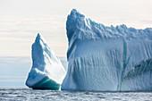 Majestic iceberg formations Greenland