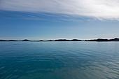 Scenic view vast blue Atlantic Ocean Greenland