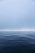 Serene ethereal blue ocean seascape