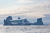Majestic iceberg formations over Atlantic Ocean Greenland