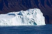 Large iceberg on blue Atlantic Ocean Greenland