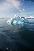 Polar ice melting on Atlantic Ocean Greenland