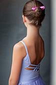Close up of ballerinas back