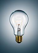 Close up of illuminated light bulb