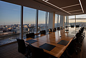Modern highrise conference room table