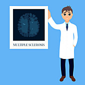 Multiple sclerosis awareness, conceptual illustration