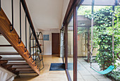 Modern home showcase interior corridor