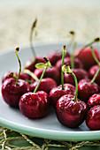 Fresh juicy summer cherries
