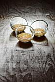 Duck liver creme brulee