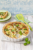 Artichoke and herb quiche