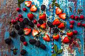 Blackberries, rasberries, strawberries