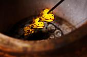 Fish skewer in Tandoori oven