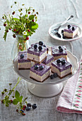 Blueberry unbaked dices