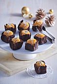 Chocolate cupcakes with caramel cream