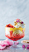 Mother's day strawberry trifle