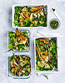 Roasted vegetable and grilled haloumi salad 'to go'