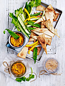 Moroccan dip with vegetable and bread