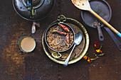 Chai tea 'healthy start to the day' porridge