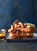 Onion and chilli marmalade on toast