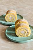 Swiss rolls with cream cheese